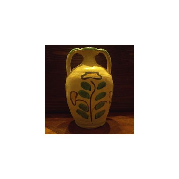 Sicilian Flask Ceramic Art from Burgio