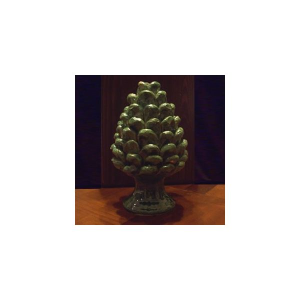 Pine Cone In Sicilian Ceramic Art From Burgio