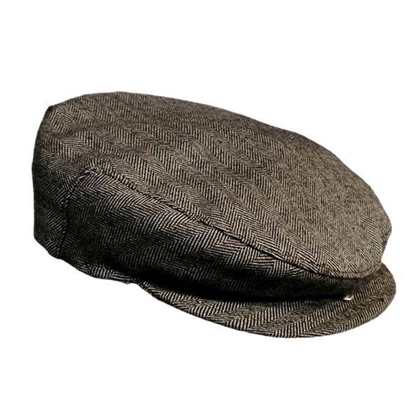 Herringbone Sicilian Coppola Hat